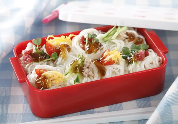 暑い夏のお弁当には、ツルツルと食べやすいそうめんがベスト!?のサムネイル画像