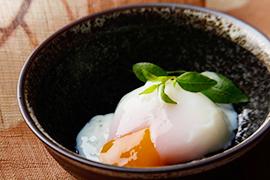 温泉卵の食べ方バラエティー♪定番の「のせる」も意外な「焼き」も!のサムネイル画像