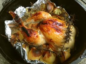 ダッチオーブンでおいしくローストチキンを焼く方法を調べてみた!のサムネイル画像
